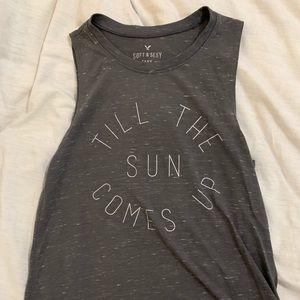 """Till the sun comes up"" american eagle tank"
